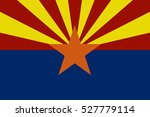 arizona flag vector | Shutterstock .eps vector #527779114