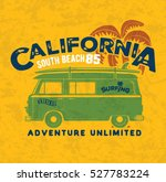 vector illustration surf bus... | Shutterstock .eps vector #527783224