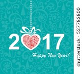 2017 happy new year greeting... | Shutterstock .eps vector #527783800