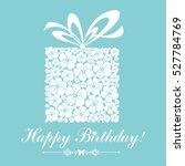 happy birthday card.... | Shutterstock .eps vector #527784769