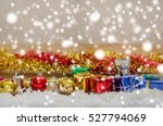 christmas background with... | Shutterstock . vector #527794069