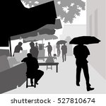 street footpath   vector | Shutterstock .eps vector #527810674
