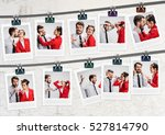 the young couple with different ... | Shutterstock . vector #527814790