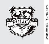 police badge illustration... | Shutterstock .eps vector #527817598