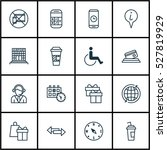 set of 16 travel icons. can be... | Shutterstock .eps vector #527819929