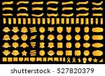 banner ribbon label yellow... | Shutterstock .eps vector #527820379