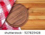 pizza board with napkin on... | Shutterstock . vector #527825428