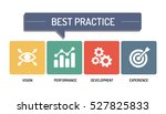 best practice   icon  set | Shutterstock .eps vector #527825833