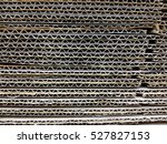 the cardboard crushed and... | Shutterstock . vector #527827153