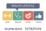 healthy lifestyle   icon set | Shutterstock .eps vector #527829196