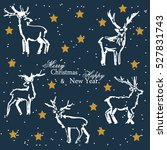 christmas and new year.... | Shutterstock .eps vector #527831743