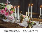 candles on the table with decor.... | Shutterstock . vector #527837674