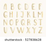 gold doodle thin font isolated... | Shutterstock .eps vector #527838628