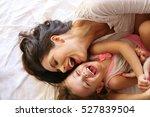 mother with her daughter enjoy... | Shutterstock . vector #527839504