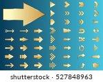 arrow vector gold curve line up ...   Shutterstock .eps vector #527848963