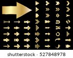 arrow vector gold curve line up ... | Shutterstock .eps vector #527848978