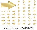 arrow vector gold curve line up ... | Shutterstock .eps vector #527848990