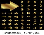 arrow vector gold curve line up ... | Shutterstock .eps vector #527849158