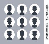 male silhouette gentleman | Shutterstock . vector #527858386
