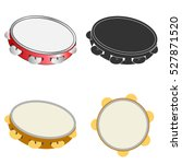 a set of of tambourines ... | Shutterstock .eps vector #527871520