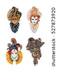 venetian masks for venice... | Shutterstock . vector #527873920