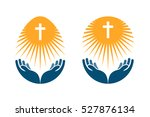religion vector logo. church ... | Shutterstock .eps vector #527876134