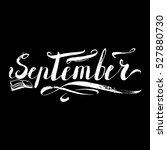 september months lettering... | Shutterstock .eps vector #527880730