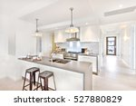 modern kitchen interior at day... | Shutterstock . vector #527880829