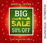 big christmas sale promotion... | Shutterstock .eps vector #527885434