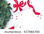 flat lay  top view christmas... | Shutterstock . vector #527886700