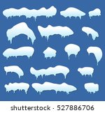 icicles  snow cap  drift vector ... | Shutterstock .eps vector #527886706