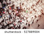blurred crowd of people in... | Shutterstock . vector #527889004