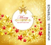 merry christmas and happy new... | Shutterstock .eps vector #527889628