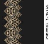 golden frame in oriental style. ... | Shutterstock .eps vector #527891128