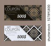 gift voucher in luxury style.... | Shutterstock .eps vector #527891830