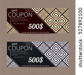gift voucher in luxury style....   Shutterstock .eps vector #527892100
