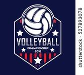 volleyball logo  america logo | Shutterstock .eps vector #527893078