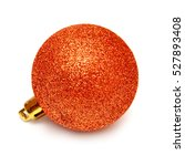 Orange Christmas Ball Isolated...