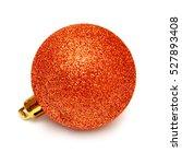 Orange Christmas Ball Isolated...