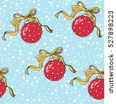 christmas pattern with... | Shutterstock .eps vector #527898223