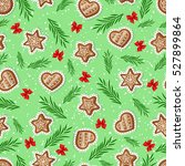 seamless pattern of ginger... | Shutterstock .eps vector #527899864