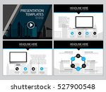 page layout design template for ... | Shutterstock .eps vector #527900548