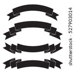 vector set of banners ribbons | Shutterstock .eps vector #527903014