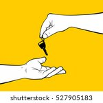 man hands giving home key | Shutterstock .eps vector #527905183