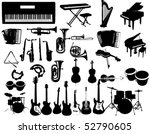 music instruments   Shutterstock .eps vector #52790605