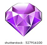 gem stone   purple tourmaline   ... | Shutterstock .eps vector #527916100