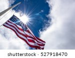 United States Flag At Half Mas...