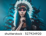 Native American Woman With A...