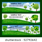 set of banner with ecology trees | Shutterstock .eps vector #52792642