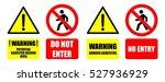 asbestos warning sign do not... | Shutterstock .eps vector #527936929